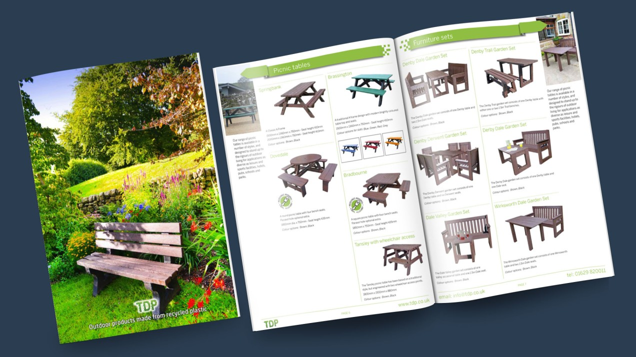 Recycled plastic furniture brochure