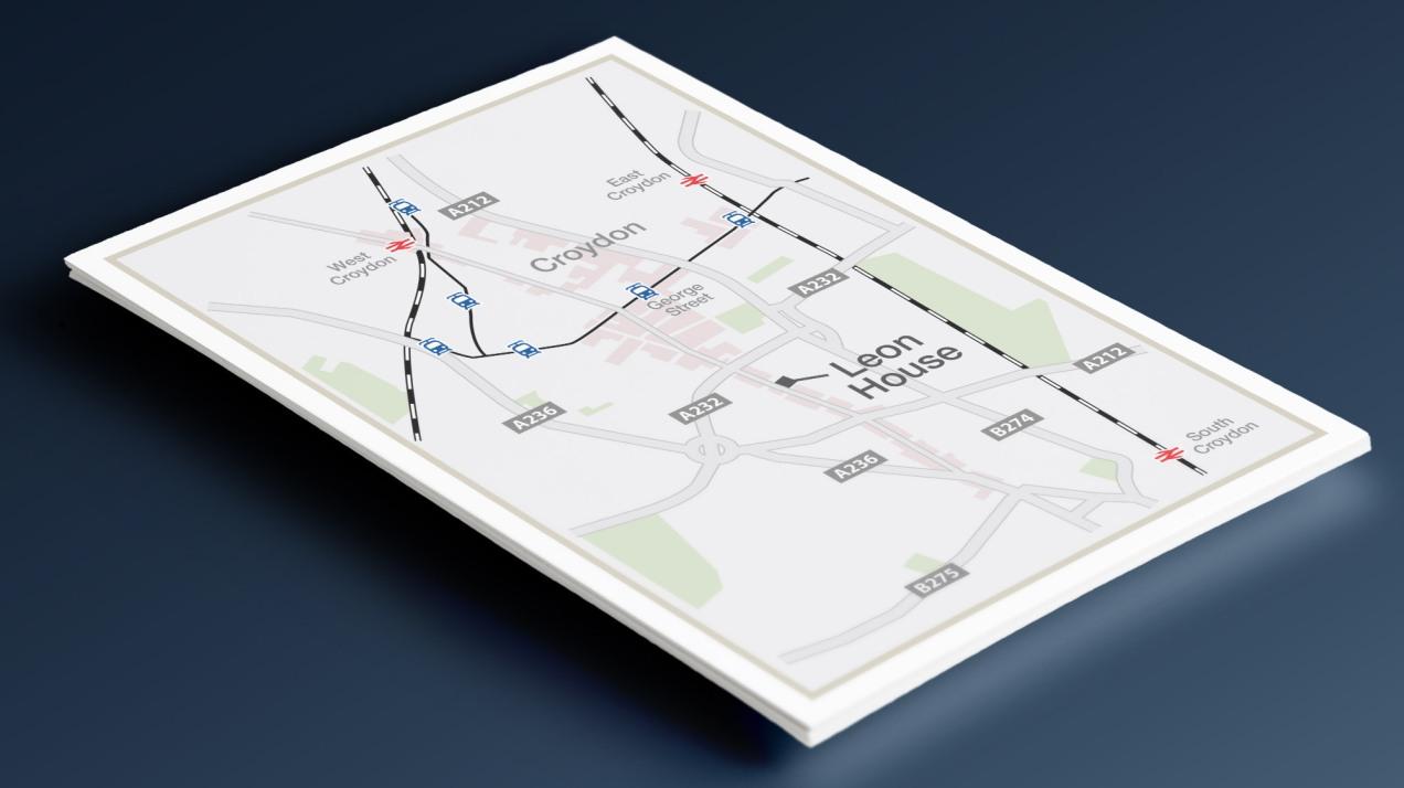 Croydon location map